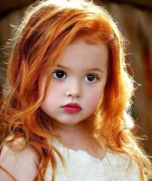 рыжий цвет волос ребенка