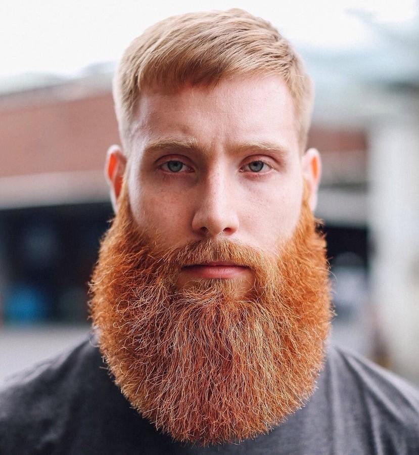 волосы на бороде стали рыжими