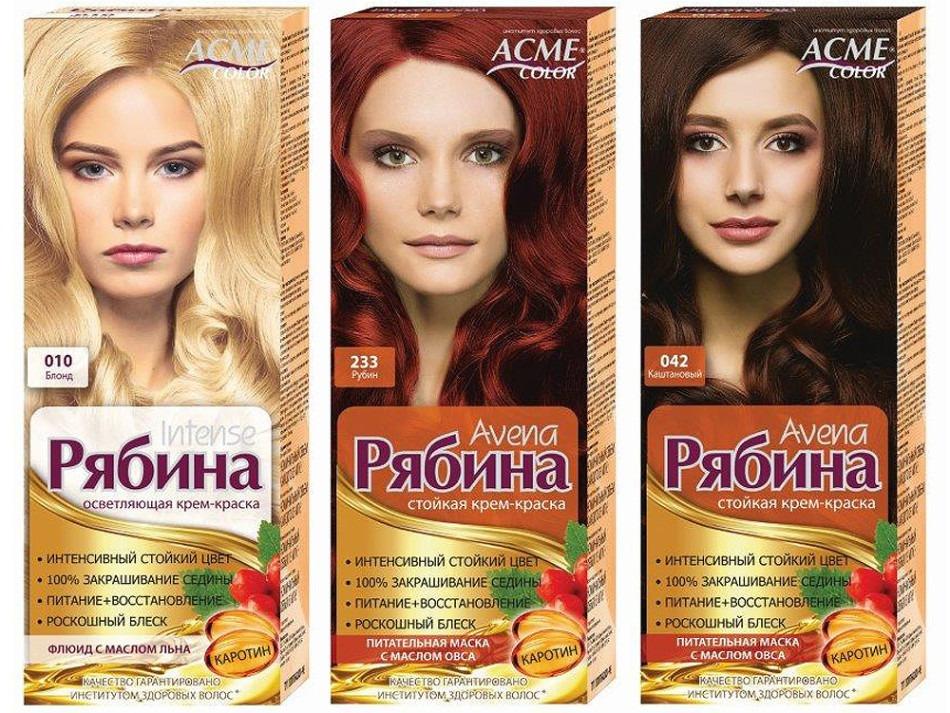 Белорусская краска для волос рябина