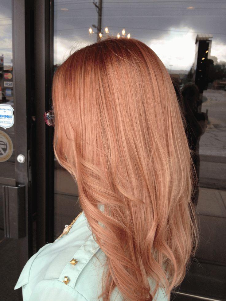 Цвет волос персик карамель