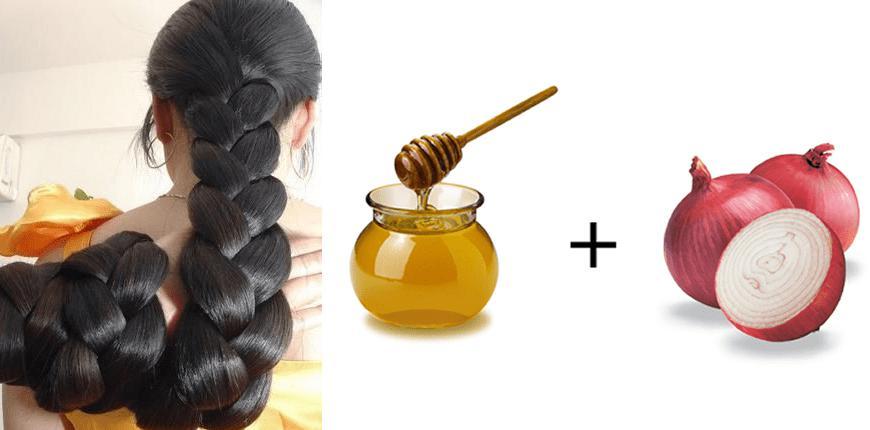 Маска от выпадения волос мед лук
