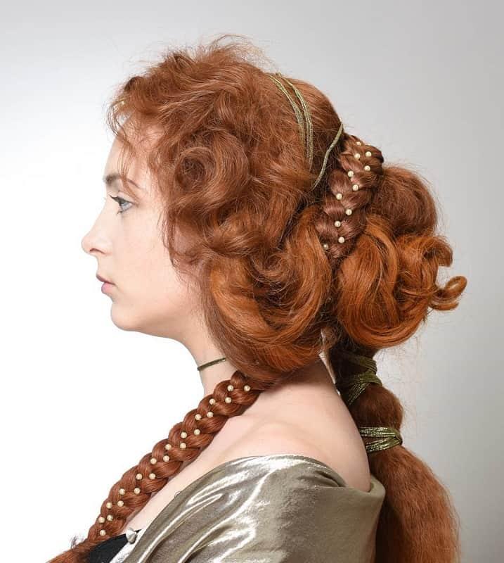Итальянская прическа на длинные волосы