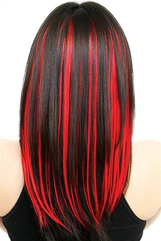 Как покрасить волосы перьями в красный цвет