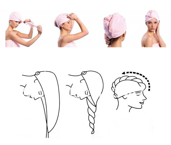 Как завернуть волосы в полотенце