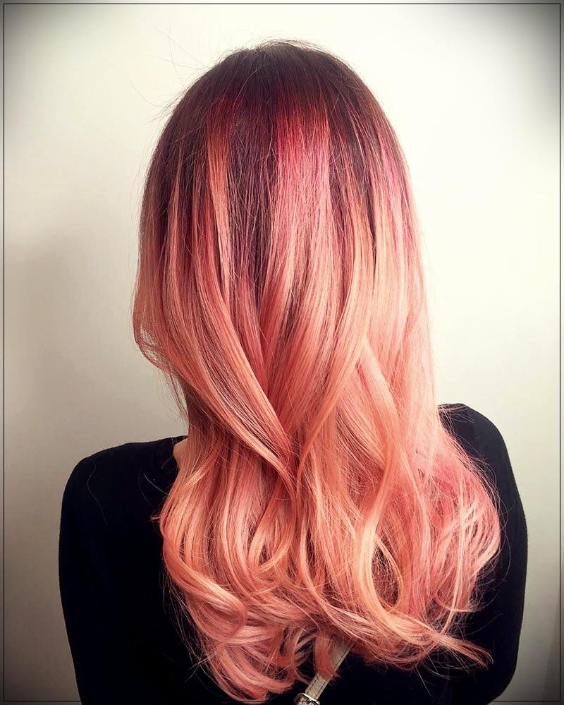 Кораллово-персиковый цвет волос