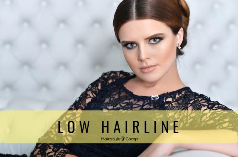 Низкая линия роста волос на лбу у женщин