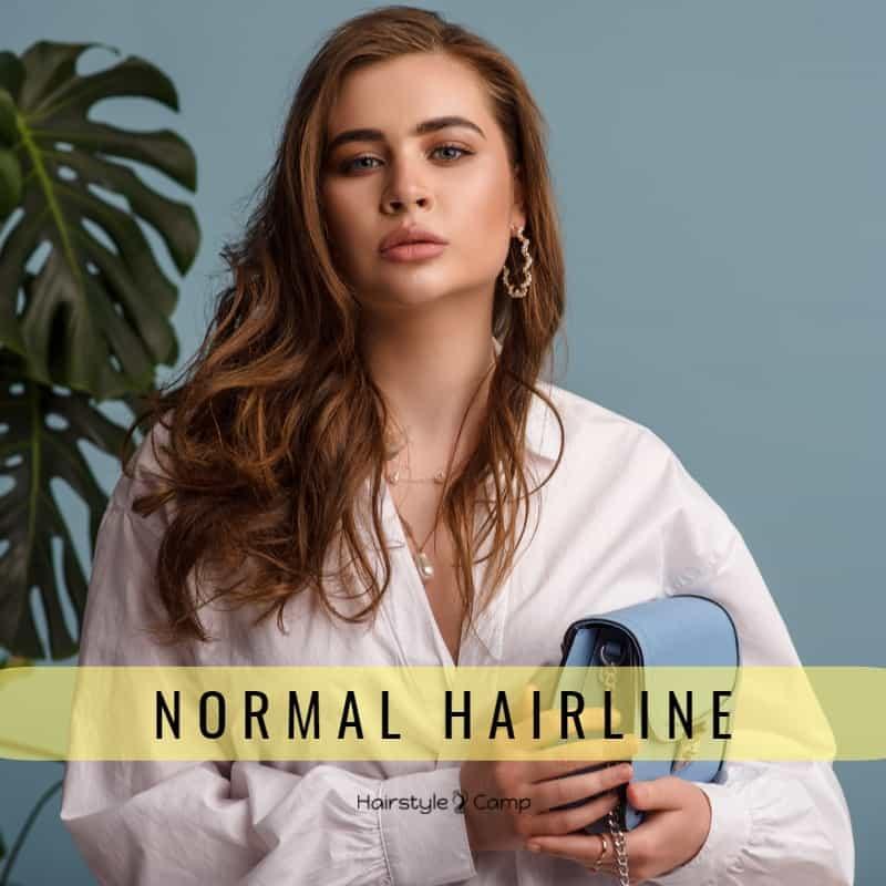 Нормальная линия волос на лбу у женщин