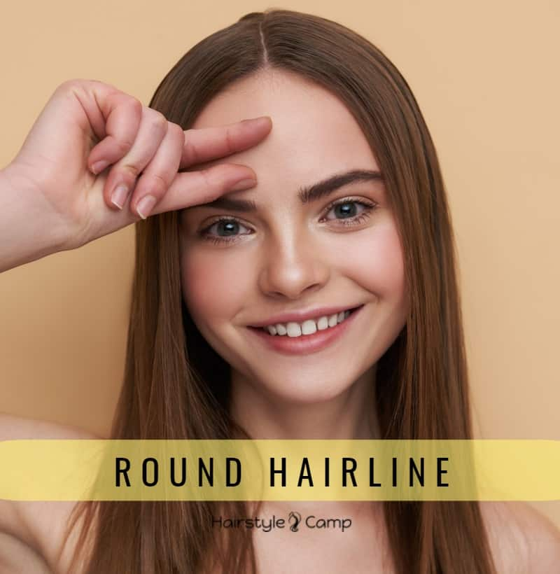 Округлая или колоколообразная линия роста волос на лбу
