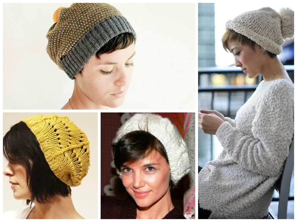 шапка на короткие волосы