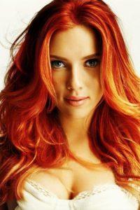 Скарлетт Йоханссон фото с рыжими волосами