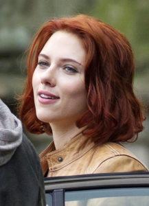 Скарлетт Йоханссон с рыжими волосами фото