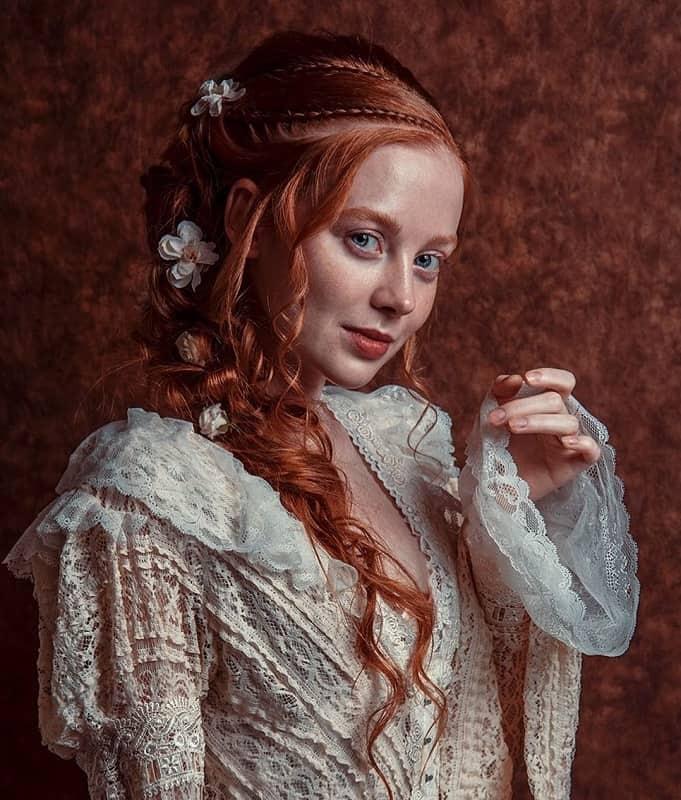 Прически эпохи Ренессанса Сложные косы
