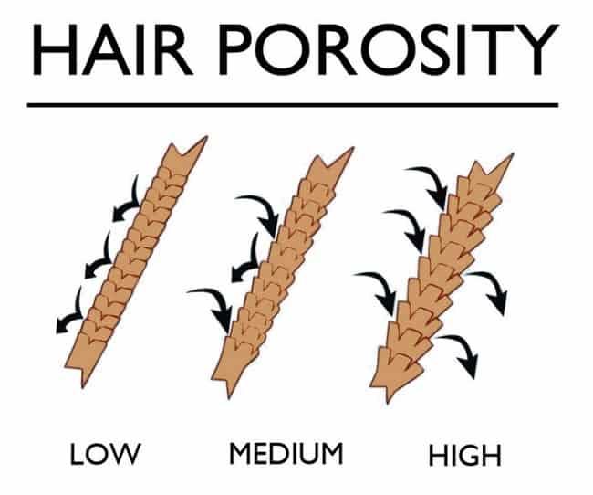 Степени пористости волос