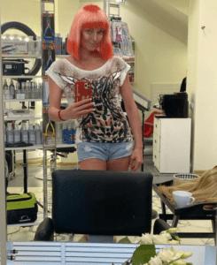 Волочкова красные волосы