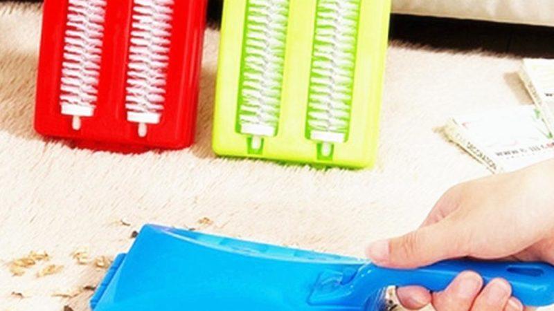 Как убрать волосы с ковра