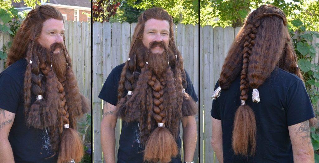 Длинные волосы викингов в настоящее фото