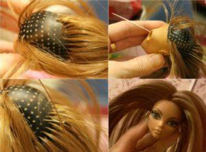 Как сделать волосы кукле барби