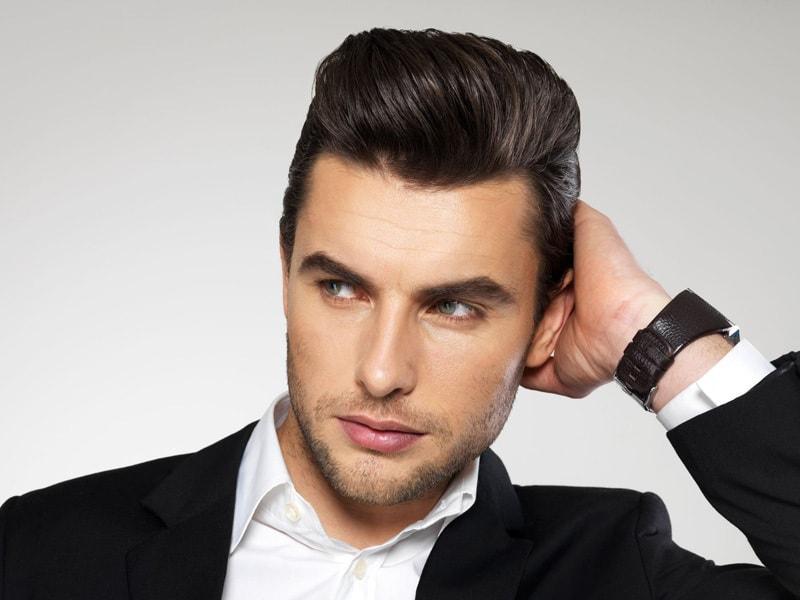 Как зачесать волосы назад мужчине