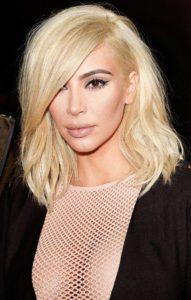 Ким Кардашьян цвета волос блондинка