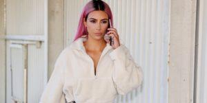ким кардашьян розовые волосы