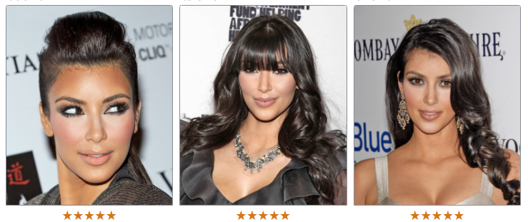 Ким Кардашьян волосы черные