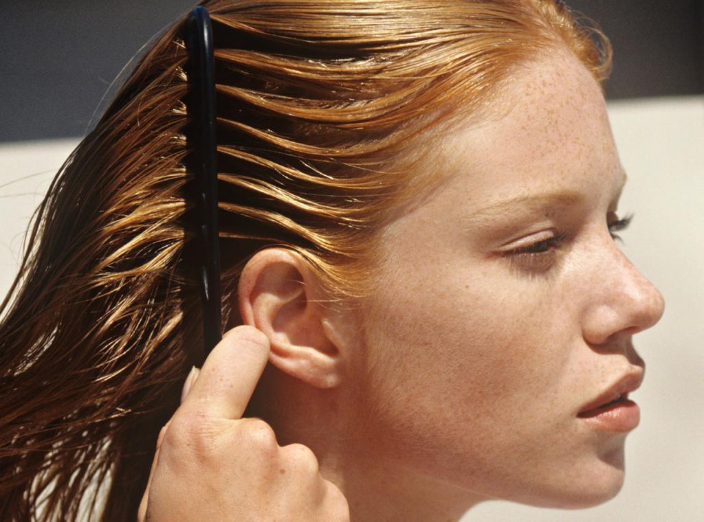 Краска на грязные волосы