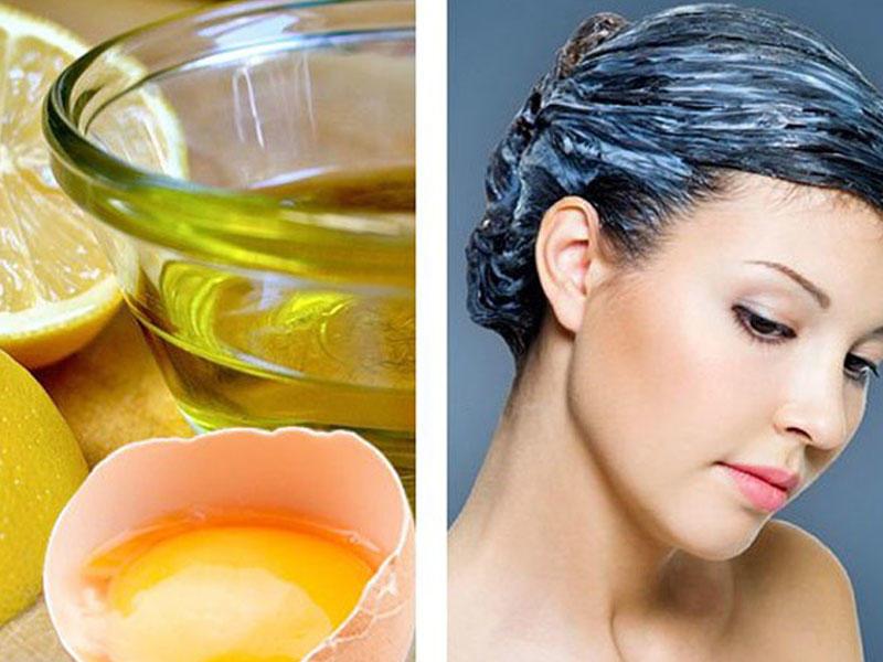 Маска для блеска и укрепления волос с яйцом