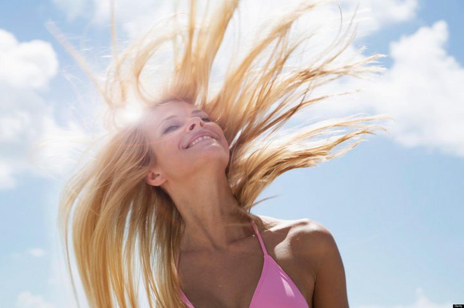 солнце и волосы