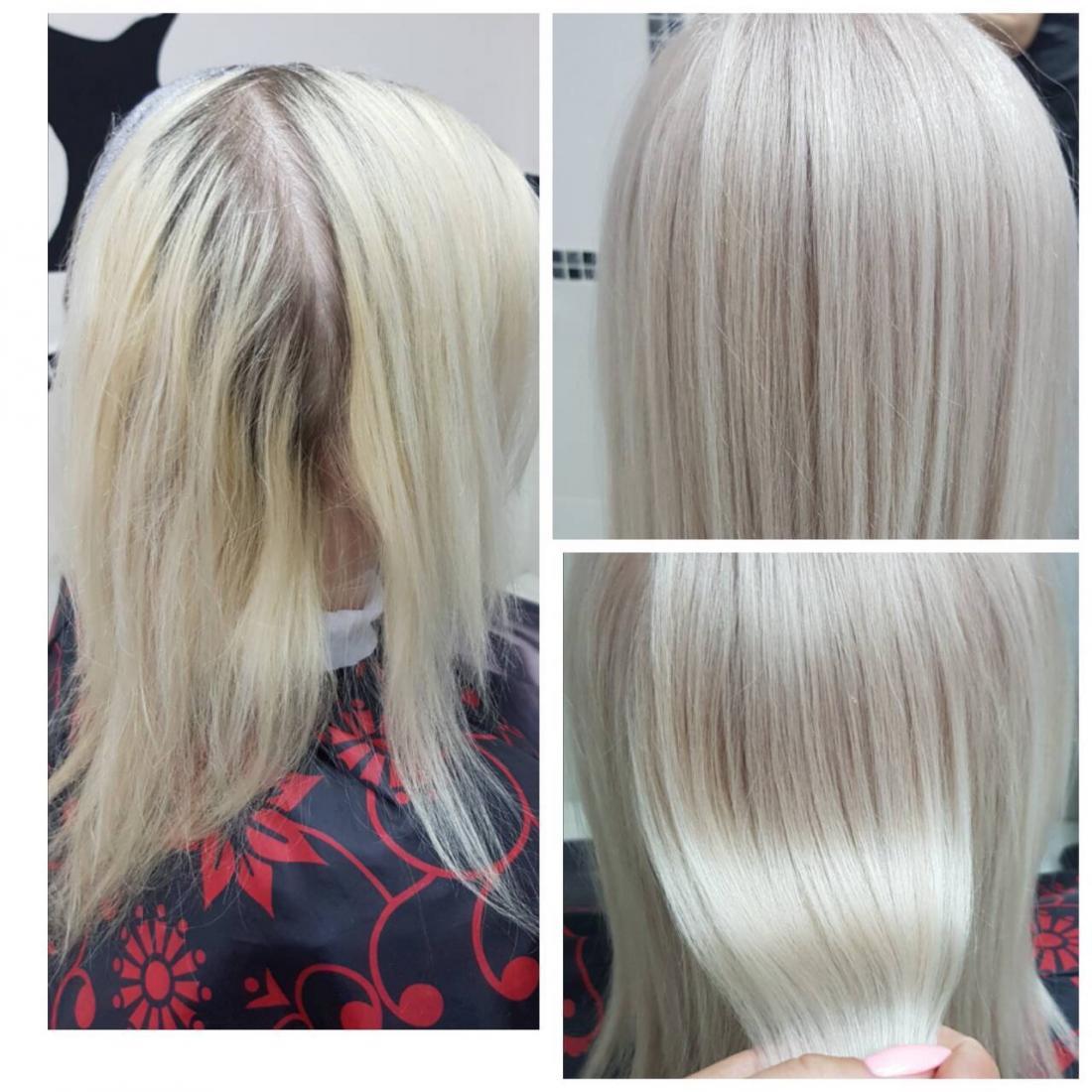 Желтизна после тонирование волос