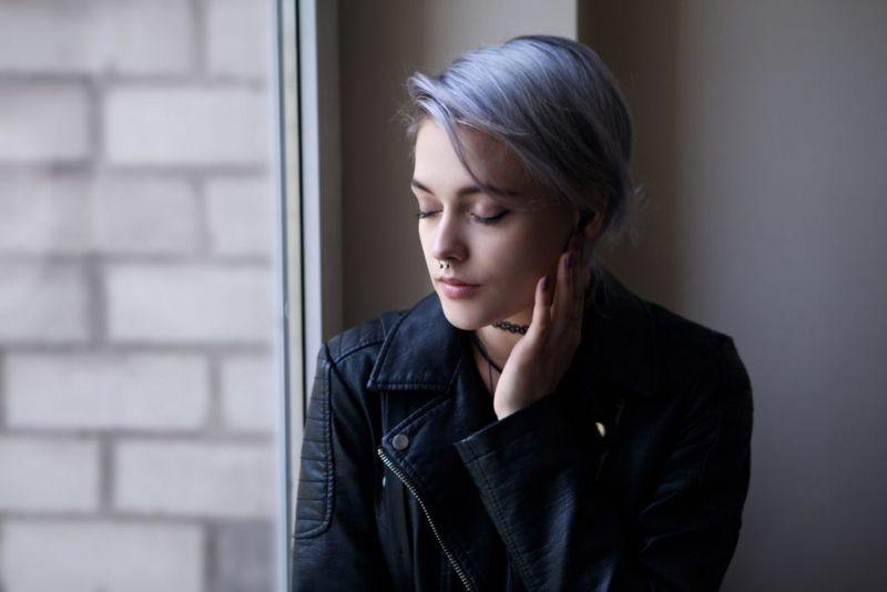 Холодный синий цвет волос
