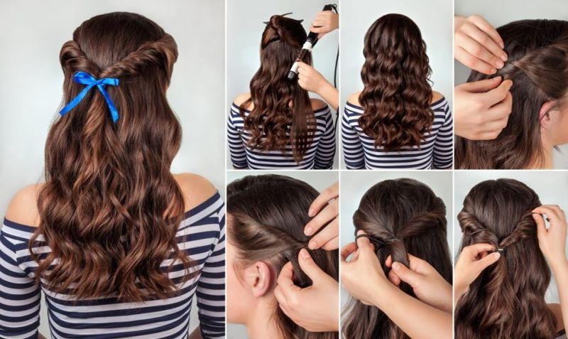 Косы на волнистые волосы