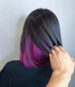 Скрытое окрашивание на русые волосы средней длины