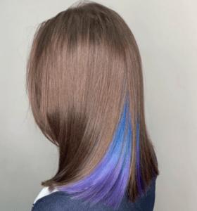 Скрытое окрашивание на русые волосы средней длины плюсы