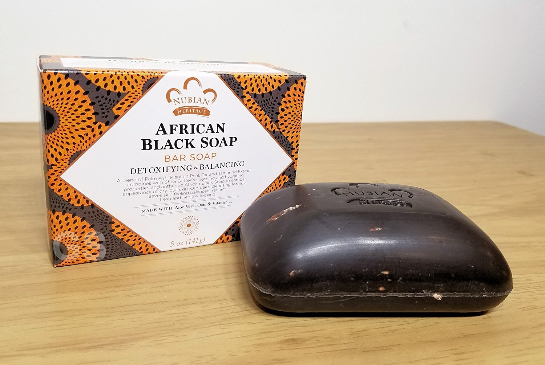 Африканское черное мыло для волос