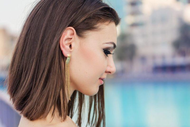 Длинный боб - прическа на средние волосы