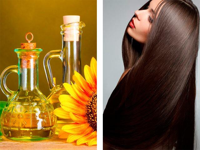 Маска для волос из подсолнечного масла от выпадения