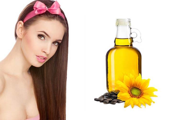 Подсолнечное масло для волос