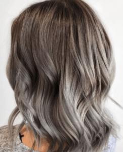 Балаяж седые волосы