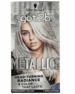 Got2b Перманентная краска для волос Metallic Silver
