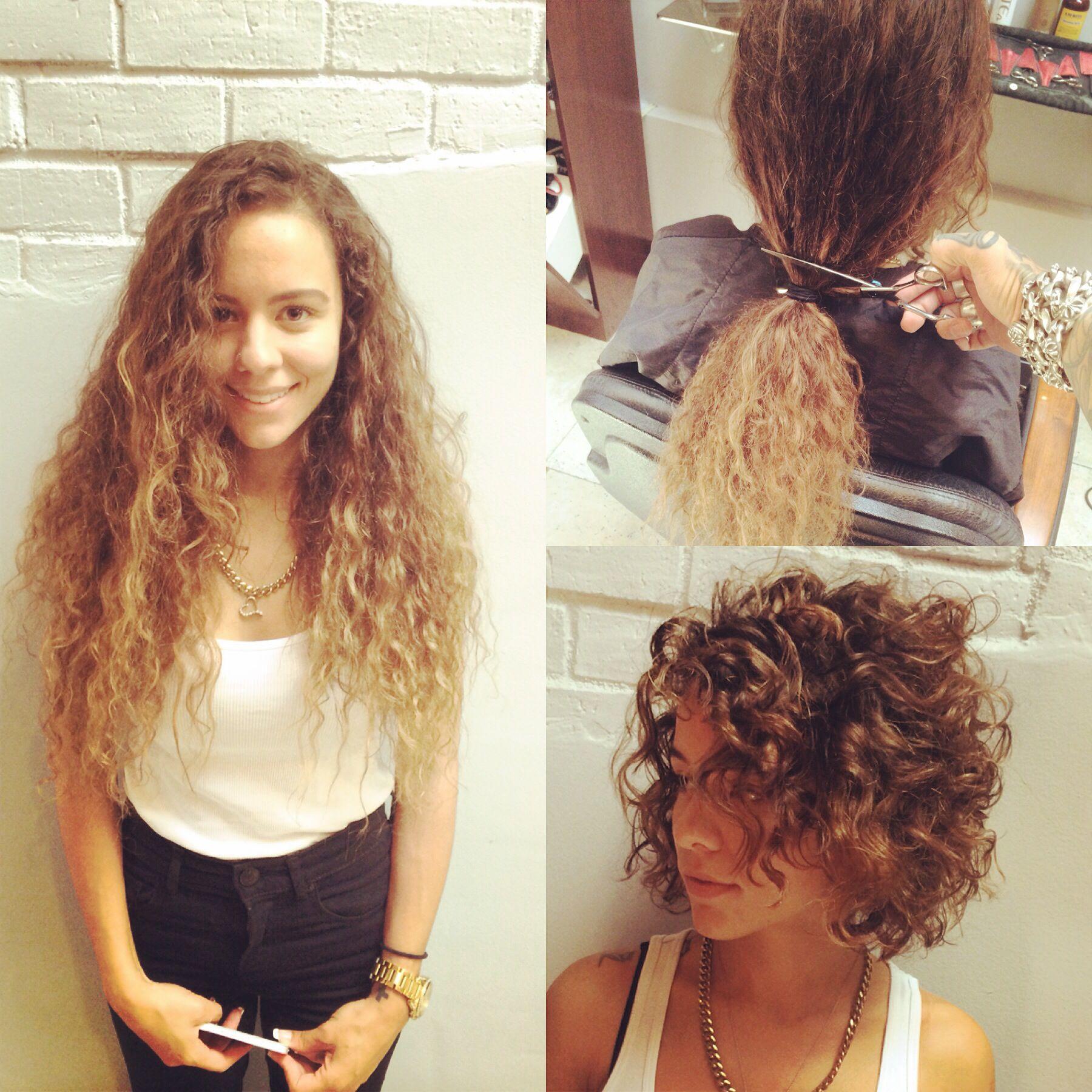 Как подстричь кудрявые волосы самой