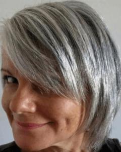 Мелирование седых волос вывод