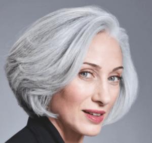 Нейтральный серый для седых волос
