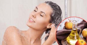 Ополаскивание волос яблочным уксусом фото