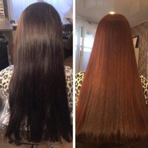 осветлитель на черные волосы