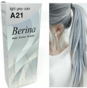 Перманентная краска для волос Berina Light Grey Silver Color Cream