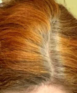 Седина на рыжих волосах