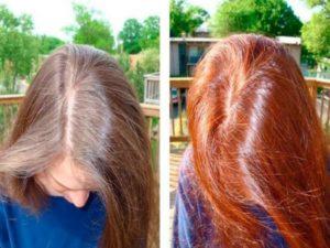 Сколько держится хна на волосах