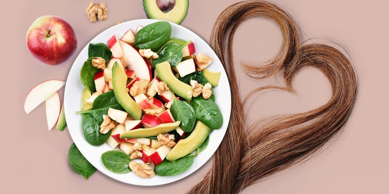 Веганские продукты для здоровых волос