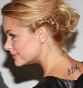 Волосы на шее у женщин