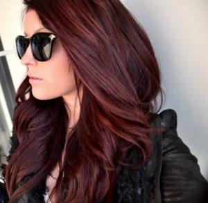 Бордовые волосы как выбрать оттенок